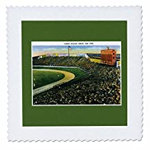 qs_170363_5 BLN Vintage US Cities and States Postcards - Yankee Stadium, Bronx, New York City Vintage Postcard Reproduction - Quilt Squares - 14x14 inch quilt square