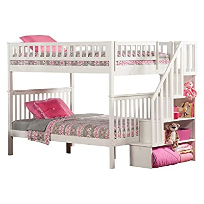 Atlantic Furniture Woodland Staircase Bunk Bed