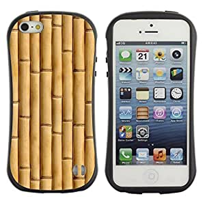 "Pulsar iFace Series Tpu silicona Carcasa Funda Case para Apple iPhone 5 / iPhone 5S , Beige Natural Naturaleza Madera"""