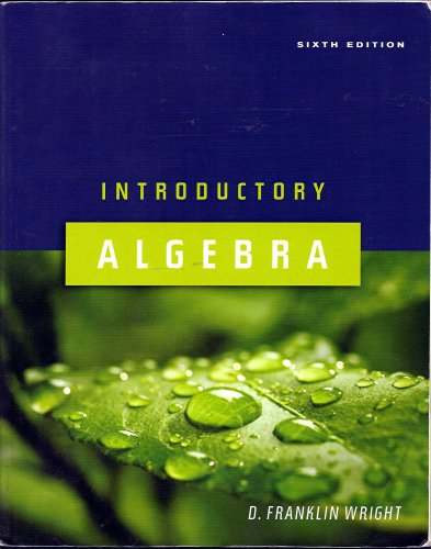 Introductory Algebra Text
