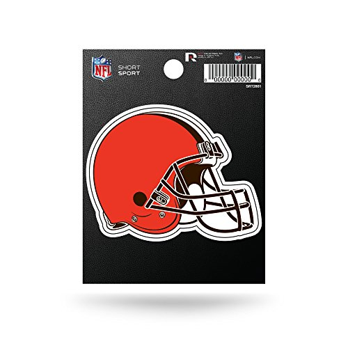 Nfl Team Logo Football - Rico Industries NFL Cleveland Browns Die Cut Team Logo Short Sport Sticker