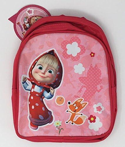 Little Girl Preschool Backpack Masha and the Bear Gray Small Backpack Kids RusToyShop Baby Bag Pink Bag Girl Cute Backpack Kindergarten for Baby