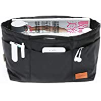 IN Multi-Pocket Travel Handbag Organizer Insert Medium for Tote bag Purse Liner Insert Organizer With Handles