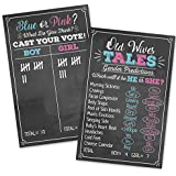 Old Wives Tales & Boy or Girl Voting Game Gender Reveal Party Posters 11