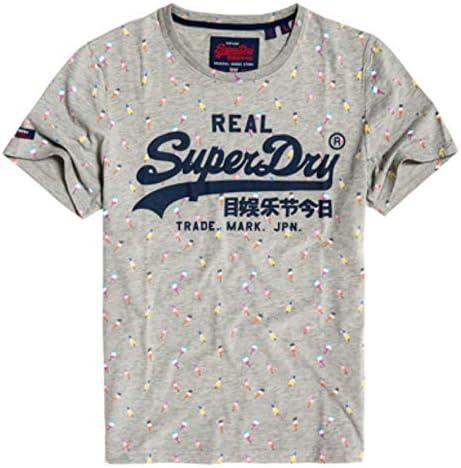 Superdry Vintage Logo AOP Mid Tee Pull sans Manche Homme