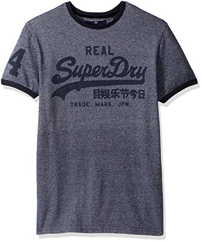 Brooklyn Ringer (Superdry Men's Vintage Logo Ringer Tee, Brooklyn Blue Grit, Large)