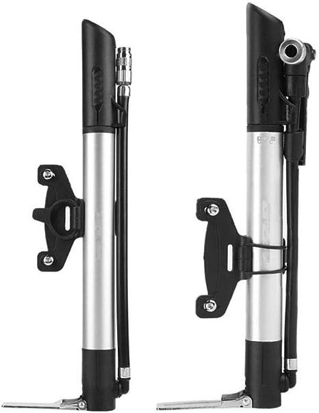 Bomba inflador bici telescopica con manometro mtb aluminio