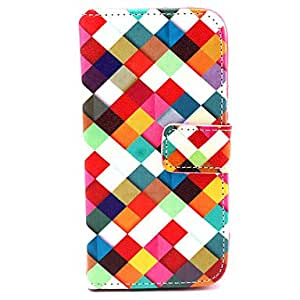 LHY Colored Drawing PU Leather Diamond Full Body Case with Stand and Card Slot for Samsung Galaxy S5 Mini