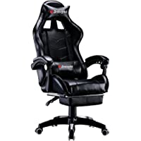 Jackgold Gaming/Racing Style Adjustable Office Chair with Removable Headrest,High Back, Lumbar Cushion, and Footrest,360…