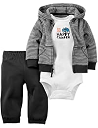 Carter's Baby Boys' 3 Piece Cardigan Set Happy Camper 9M