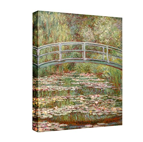 Eliteart-Bridge Over Water Lily Pond Claude Mone Giclee Art Canvas ()