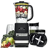 Simply Silver - New Bella 14285 Rocket Extract Pro PLUS Multi-Function BLACK Blender w Tumblers