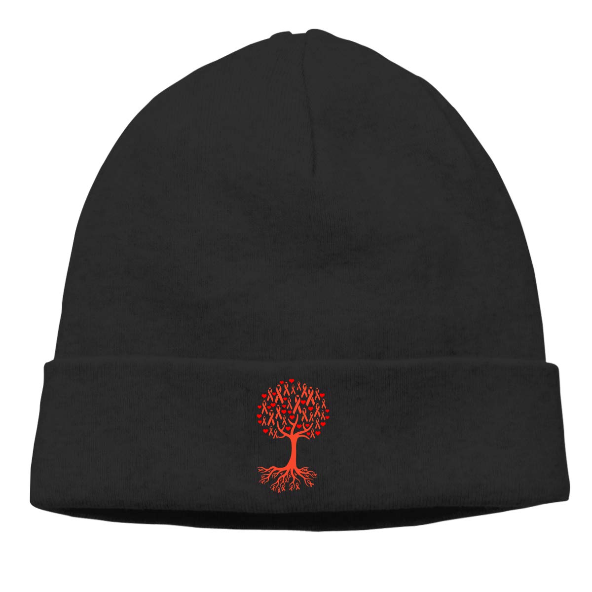 Thin Stretchy /& Soft Winter Cap Kidney Cancer Awareness Tree Roots Women Men Solid Color Beanie Hat