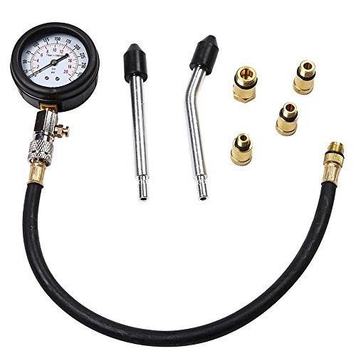 ngine Cylinder Compressor Gauge Meter Test Pressure Compression Tester Leakage Diagnostic Service Set Tools Tester RE ()