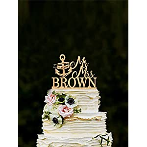51UQEnaiEBL._SS300_ 50+ Beach Wedding Cake Toppers and Nautical Cake Toppers For 2020