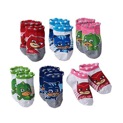 PJ Masks Girls No-Show Toddler Socks 6-Pack Gekko, Catboy & Owlette ...