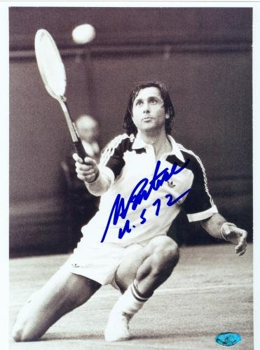 Autograph Warehouse 70549 Ilie Nastase Autographed 8 x 10 Photo Tennis Player Inscribed Us 72 from Autograph Warehouse