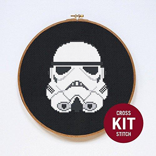 Stormtrooper Cross Stitch Kit by -