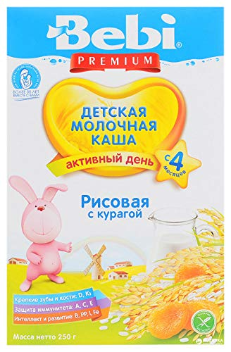 Bebi Rice Milk Cereal for Babies with Dried Apricots from 4 months 250g from Europe by Bebi