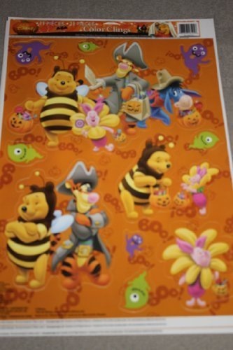 Disney Winnie the Pooh & Friends Halloween Color Clings Window Mirror Art - Pooh Mirror