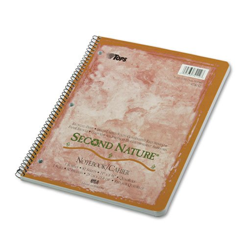 Second Nature Subject Wirebound Notebook, Quadrille Rule, Ltr, We, 80-