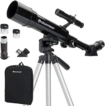 Amazon Com Celestron 50mm Travel Scope Portable Refractor Telescope Fully Coated Glass Optics Ideal Telescope For Beginners Bonus Astronomy Software Package Camera Photo