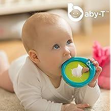 [Patrocinado] baby-t, Baby 's 1st MP3, multiusos pulsera, Mordedor, reproductor de música, grabadora de voz y soporte de botella para bebé, seguro para todas las edades 0–48meses, el regalo perfecto de bebé., Azul
