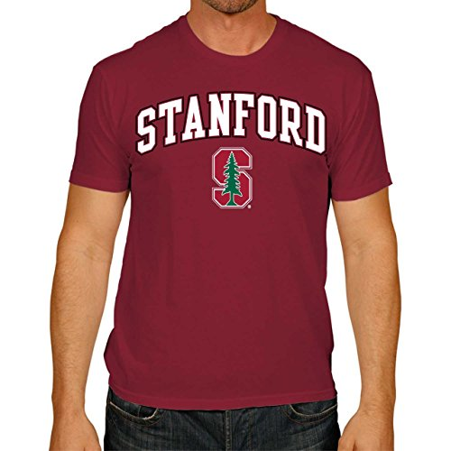 Campus Colors Stanford Cardinal Adult Arch & Logo Soft Style Gameday T-Shirt - - Stanford Shirt