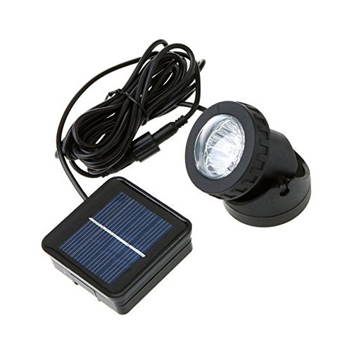(LAFEINA Solar Powered LED Spotlight, Underwater Light, Landscape Waterproof Lamp for Outdoor Garden Pool Pond Decoration)