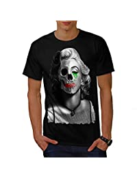 Wellcoda Monroe Creepy Celebrity Mens T-shirt, Dead Detailed Design Print Tee