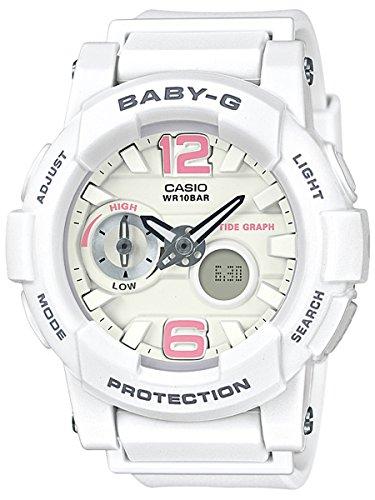 Casio Baby G White Dial Polyurethane Strap Ladies Watch BGA-180BE-7B