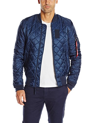 Alpha Industries Men's MA-1 Origami Flight Bomber Jacket, Replica Blue, Medium ()