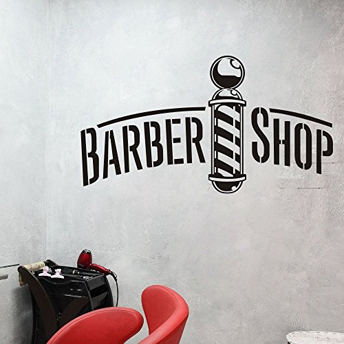 Barbershop Window Decal Business Decal Barber Shop Decal Sticker (Large,White) by SCOOPTOUR WALL ART