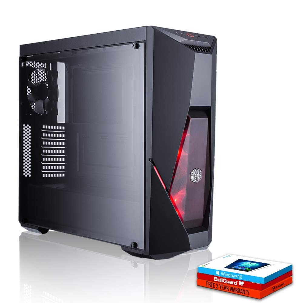 Fierce Hazard High-End Gaming PC - Veloce 4.2GHz Hex-Core AMD Ryzen 5 2600X, 240GB Disco a Stato Solido, 1TB Disco Rigido, 16GB 2666MHz, NVIDIA GeForce GTX 1070 8GB, Windows 10 installato 1128144 Fierce PC