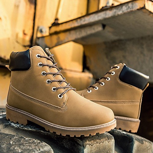 SITAILE Men Women Comfortable Ankle Boots Lace up Waterproof Combat Work Safety Shoes by SITAILE (Image #3)