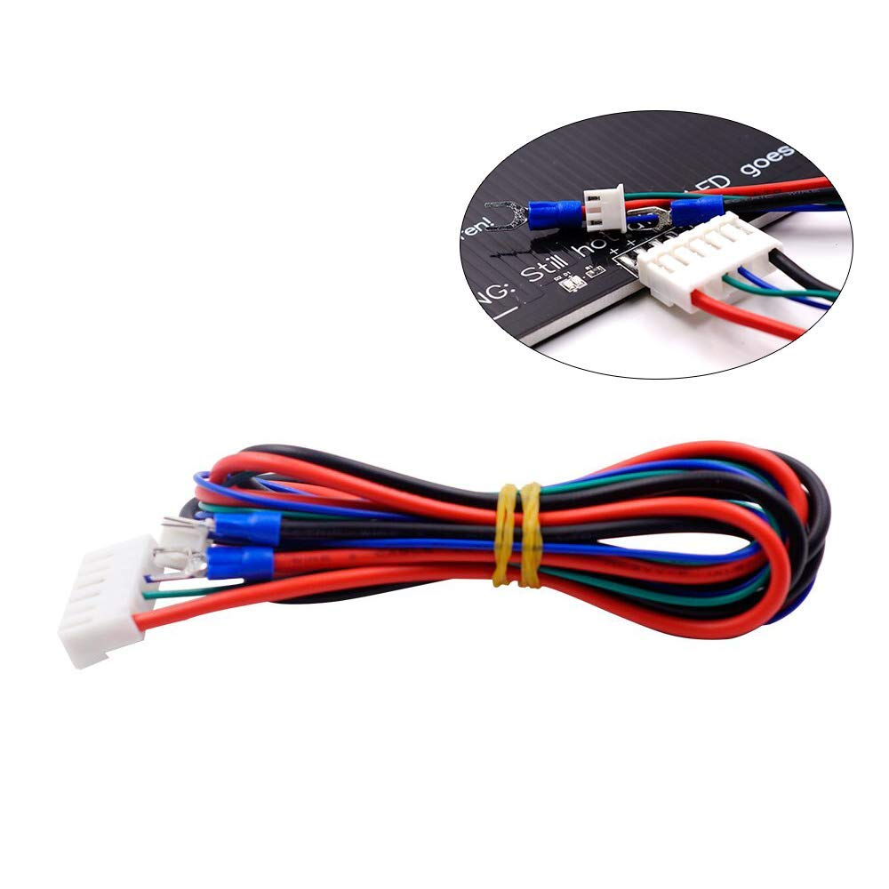 FYSETC 3D Printer A8 A6 Parts Upgrade Heated Bed Cable Hot Bed Line Heatbed Wire for Anet A8 A6 MK2 MK3 Mendel Reprap i3