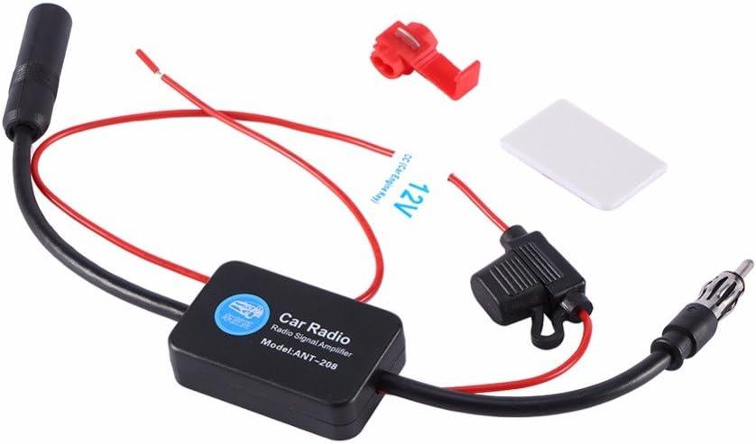 Car FM /& AM Radio Antenna Signal Amplifier Aerial Signal Amp Booster 12V ANT-208