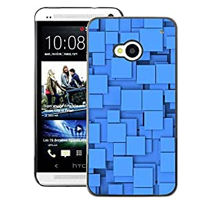 A-type Arte & diseño plástico duro Fundas Cover Cubre Hard Case Cover para HTC One M7 (Polygon Pattern Shapes Baby Clean)