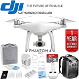 DJI Phantom 4 Pro Quadcopter Drone (CP.PT.000488) with Ultimate Bundle With hard shell Backpack, 32GB Card, 2 Batteries, Triple Charge Hub, Microfiber Cloth and One Year Warranty Extension