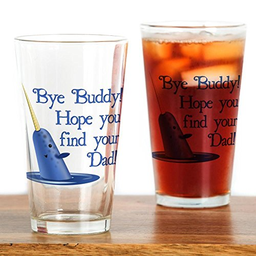 CafePress Narwhal Quote Drinking Glass