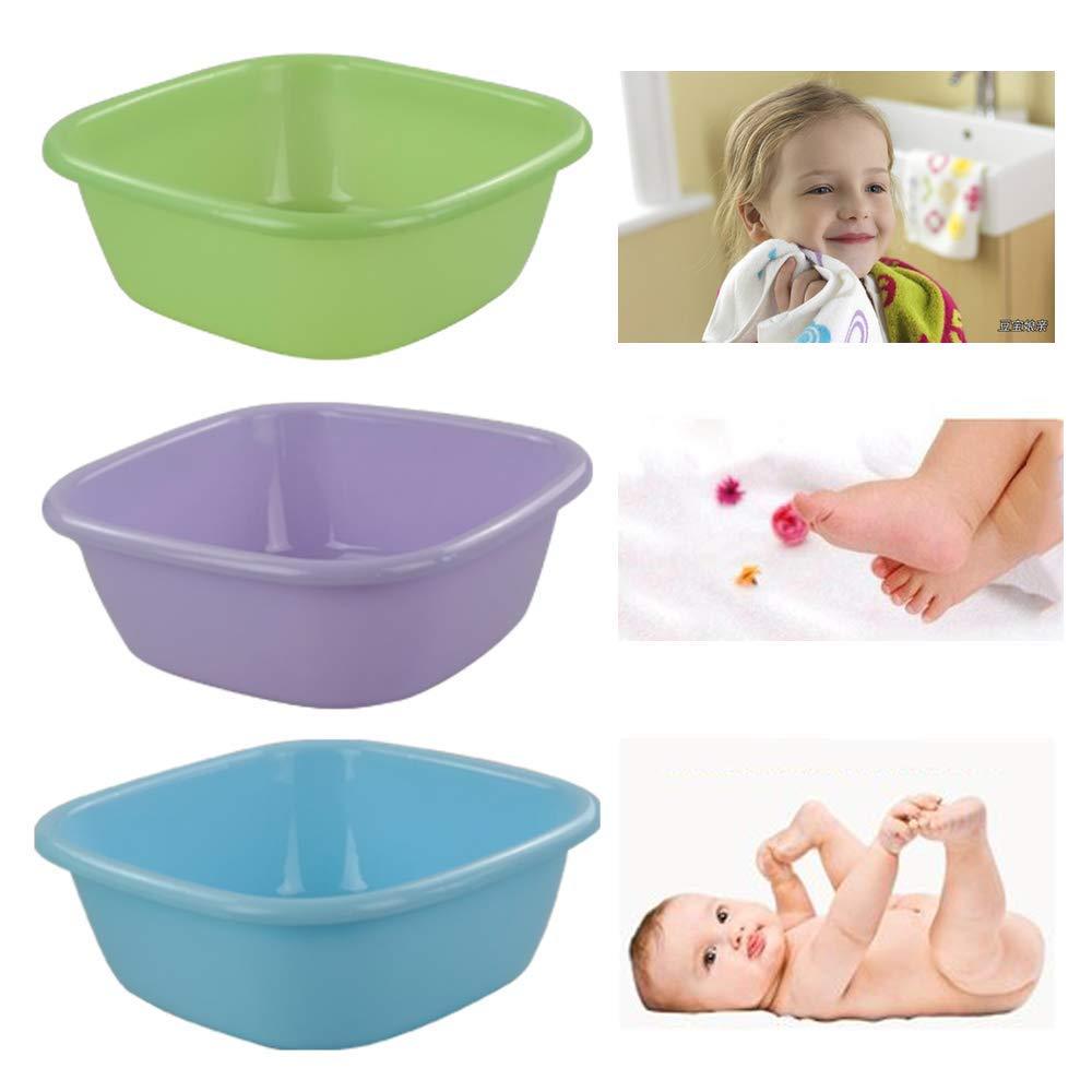 Yubine Plastic Wash Basin, 12 Quart Plastic Tubs, Colorful by Yubine