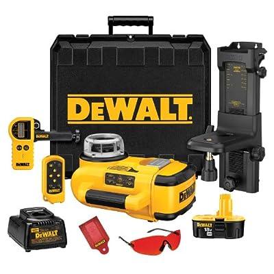 DEWALT DW079KD 18-Volt Self Leveling Interior/Exterior Rotary Laser Kit with Laser Detector from DEWALT