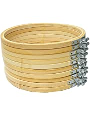 Proumhang 10 pcs Embroidery Hoop Bamboo Circle Cross Stitch Hoop Ring