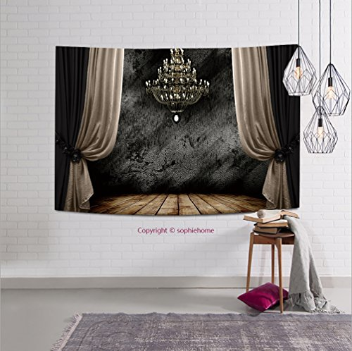 8l Chandelier (sophiehome-128738516 Image of grunge dark room interior with wood floor and chandelier. Background tapestry wall hanging magical thinking tapestry 10W x 8L Inches)