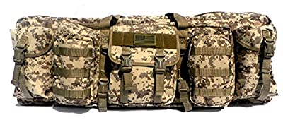 """East West U.S.A RTGC604L 42"""" Double Tactical Molle Soft Padded Rifle Long Hunting Bag"""