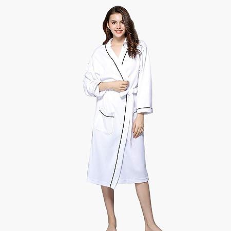WWJQ Albornoces, Albornoz De AlgodóN para Mujer Kimono Suave SPA Albornoz De Punto Albornoces Ligeros Ropa De Dormir CóModa De Verano: Amazon.es: Hogar