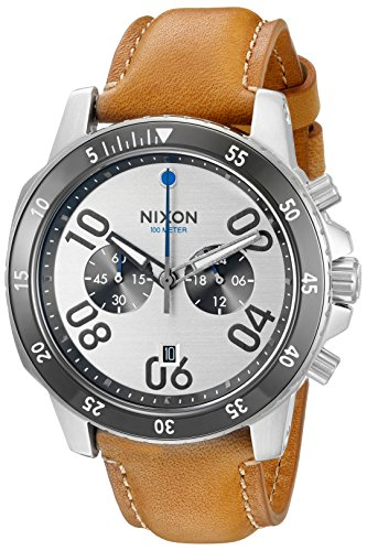 Nixon Men's A9402092-00 Ranger Chrono Leather Analog Display Quartz Brown Watch