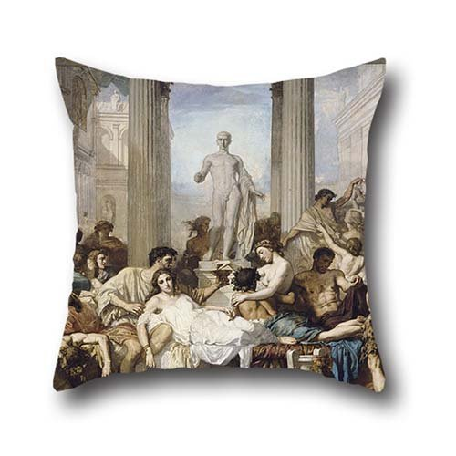 [Oil Painting Thomas Couture - Romans During The Decadence Pillow Cases 16 X 16 Inches / 40 By 40 Cm For Boys,floor,pub,girls,dinning Room,living Room With Two] (Victorias Secret Costume Ideas)