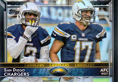 ad7674b0 San Diego Chargers 2015 Topps NFL Football Complete Regular Issue 13 Card  Team Set Including Antonio Gates, Philip Rivers, Keenan Allen Plus