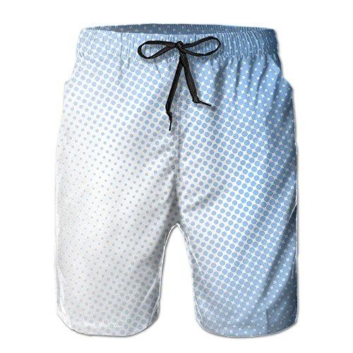 (FERNANDO HUNG Blue Dots Men's Casual Short Swimming Pants Beach Pants)